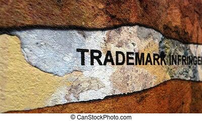 Trademark infrigement grunge concept