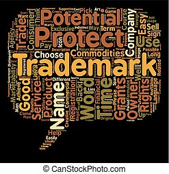 trademark name text background wordcloud concept
