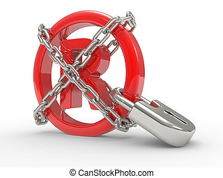 Trademark symbol 3d with chains - Trademark symbol 3d with...