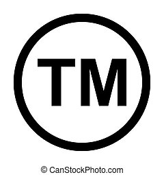 Trademark Symbol Icon. Classic icon. Vector illustration