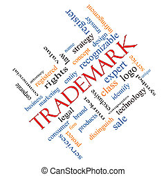 Trademark Word Cloud Concept Angled