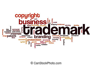 Trademark word cloud concept