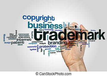 Trademark word cloud concept