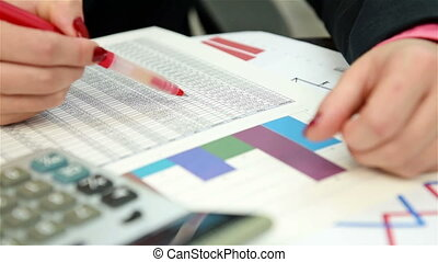 Trader Checking Financial Report, C