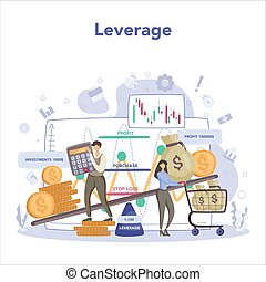 Trader, financial investment concept. Stock market leverage,