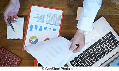 Trader Man Analyzing Stock Statistics