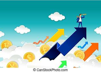 trader vector concept for web banner, website page