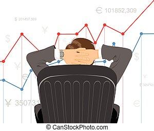Trader watching schedule