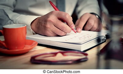Trader Writes Budget - Businessman Writes The Costs And...