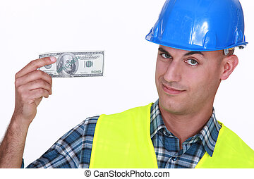 Tradesman earning a decent living