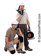 tradesmen, 矯柔造作, 由于, 他們, 工具