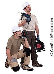 tradesmen, 藏品, 他們, 工具