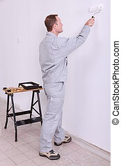 tradesperson painting