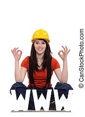 Tradeswoman thankful for modern technology