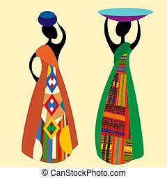 tradiční, afričan