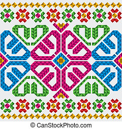 tradiční, mexičan, ozdoby, dát