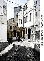tradiční, moroccan, architektura