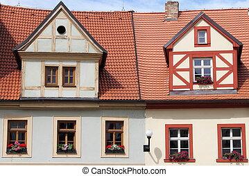 tradiční, ubytovat se, timbered
