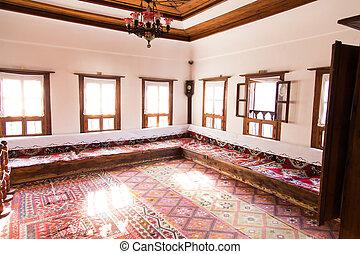 tradiční, ubytovat se, turecký