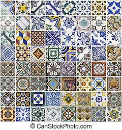 tradicional, azulejos, porto, portugal