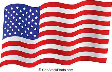 tradicional, bandera de los e.e.u.u