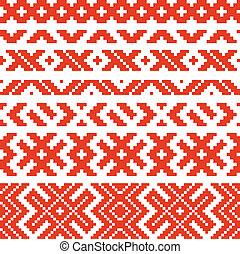 tradicional, belorussian, 2, ornamento