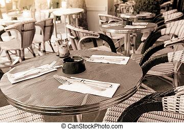 tradicional, café, parisian