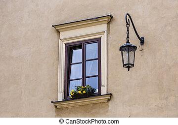 tradicional, casas, em, krakow, polônia