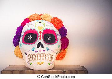 tradicional, catrina, mexicano, handcraft