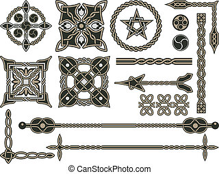 tradicional, celta, elementos