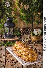 tradicional, checo, pastel de christmas