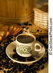 tradicional, chinês, cofee