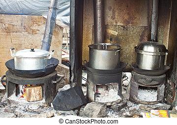 tradicional, chinês, cozinha
