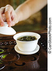 tradicional, china, chá