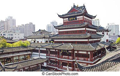 tradicional, china, parte, shanghai