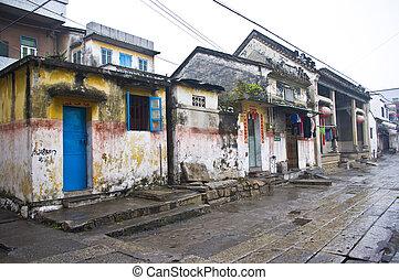 tradicional, chino, aldea, en, china