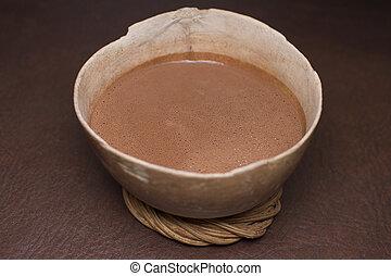 tradicional, chocolate, bebida