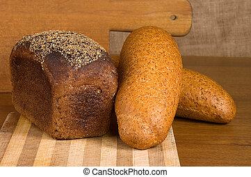 tradicional, cocido al horno, tabla, recientemente, bread