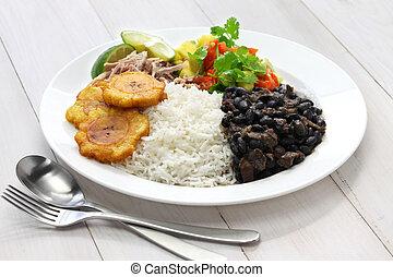 tradicional, cocina, cubano