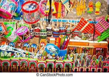 tradicional, Conjunto, mexicano, juguetes