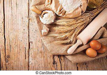 tradicional, cozinha, ingredientes