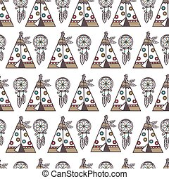 tradicional, cultura, padrão, indigenas, símbolos,...