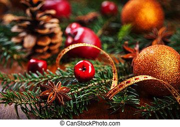 tradicional, decoração natal