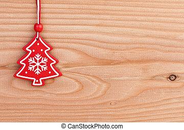 tradicional, decoração natal, sobre, madeira, fundo
