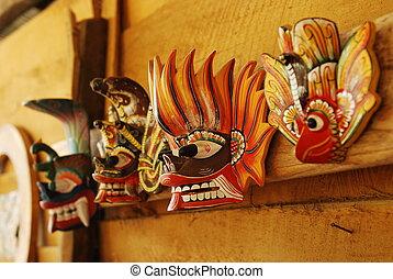 tradicional, Diablo, máscara