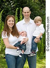 tradicional, familia cuatro