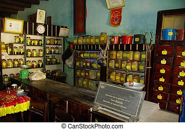 tradicional, farmacia