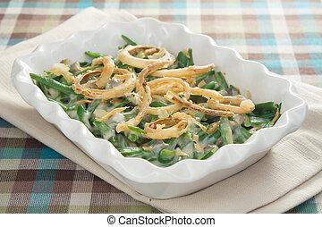 tradicional, feijão verde, casserole