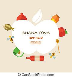 """tradicional, feriado, tarjeta, year"""", año nuevo, icons., ..."""