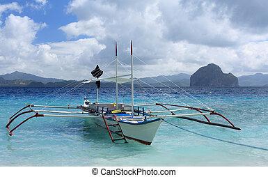 tradicional, filipinas, bote